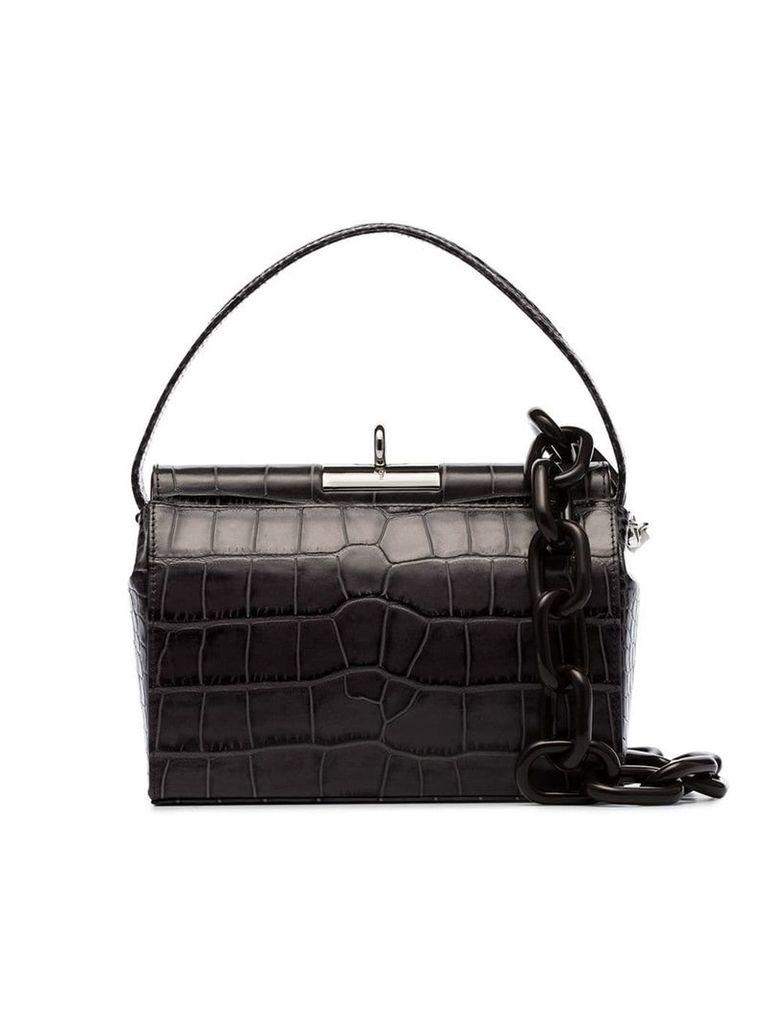 Gu De grey Milk medium croc-effect leather shoulder bag