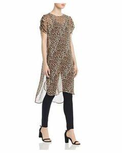 Vince Camuto Leopard-Print Tunic