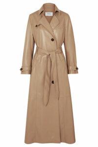 Nanushka - Chiara Belted Vegan Leather Trench Coat - Beige