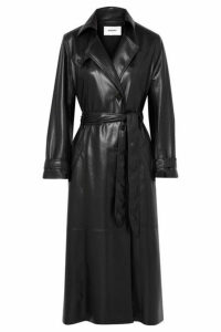 Nanushka - Chiara Vegan Leather Trench Coat - Black