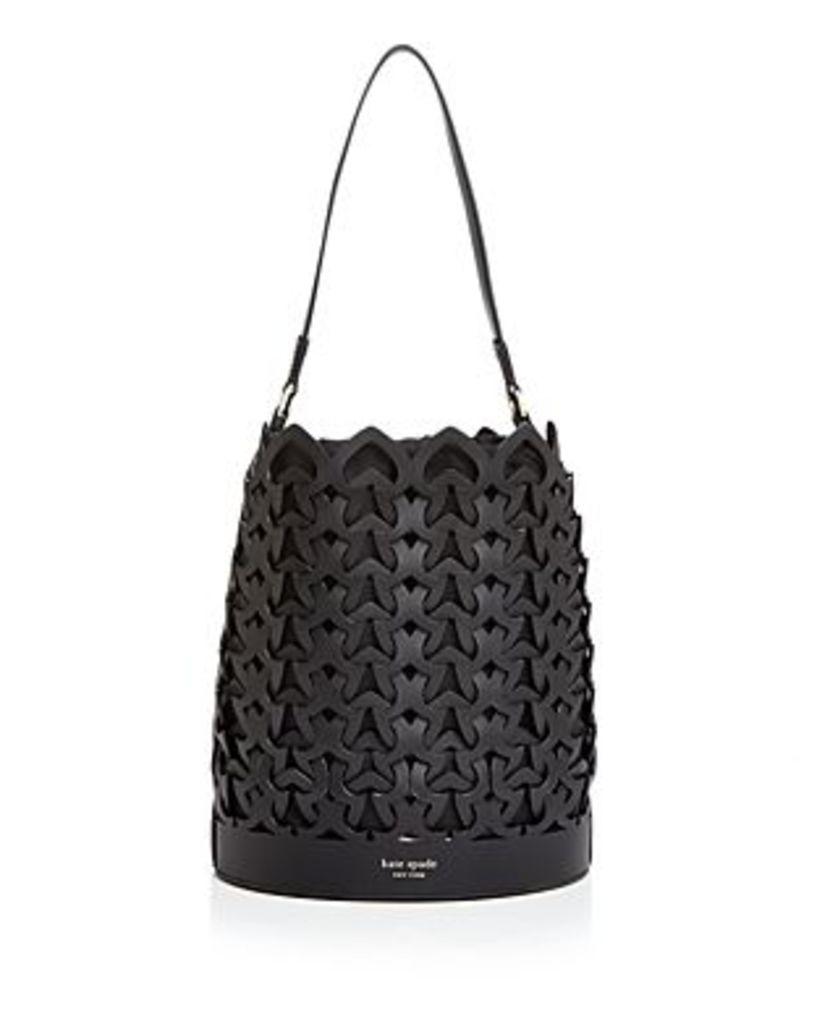 kate spade new york Medium Perforated Leather Bucket Bag