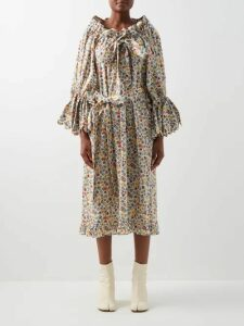 Etro - Paisley Print Cotton Poplin Shirtdress - Womens - Light Blue