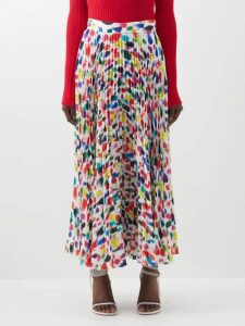 Juliet Dunn - Floral-embroidered Tiered Cotton Mini Dress - Womens - Pink
