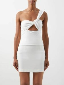 Juliet Dunn - Floral Broderie Anglaise Cotton Mini Dress - Womens - Pink