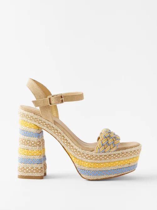 A.p.c. - Margaux Cotton Blend Denim Midi Skirt - Womens - Denim