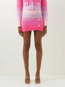 Jw Anderson - Fil Coupé Cotton Midi Skirt - Womens - White Multi