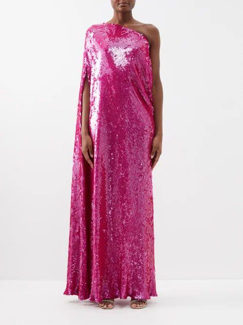 Dolce & Gabbana - Floral Print Cotton Midi Dress - Womens - White Multi