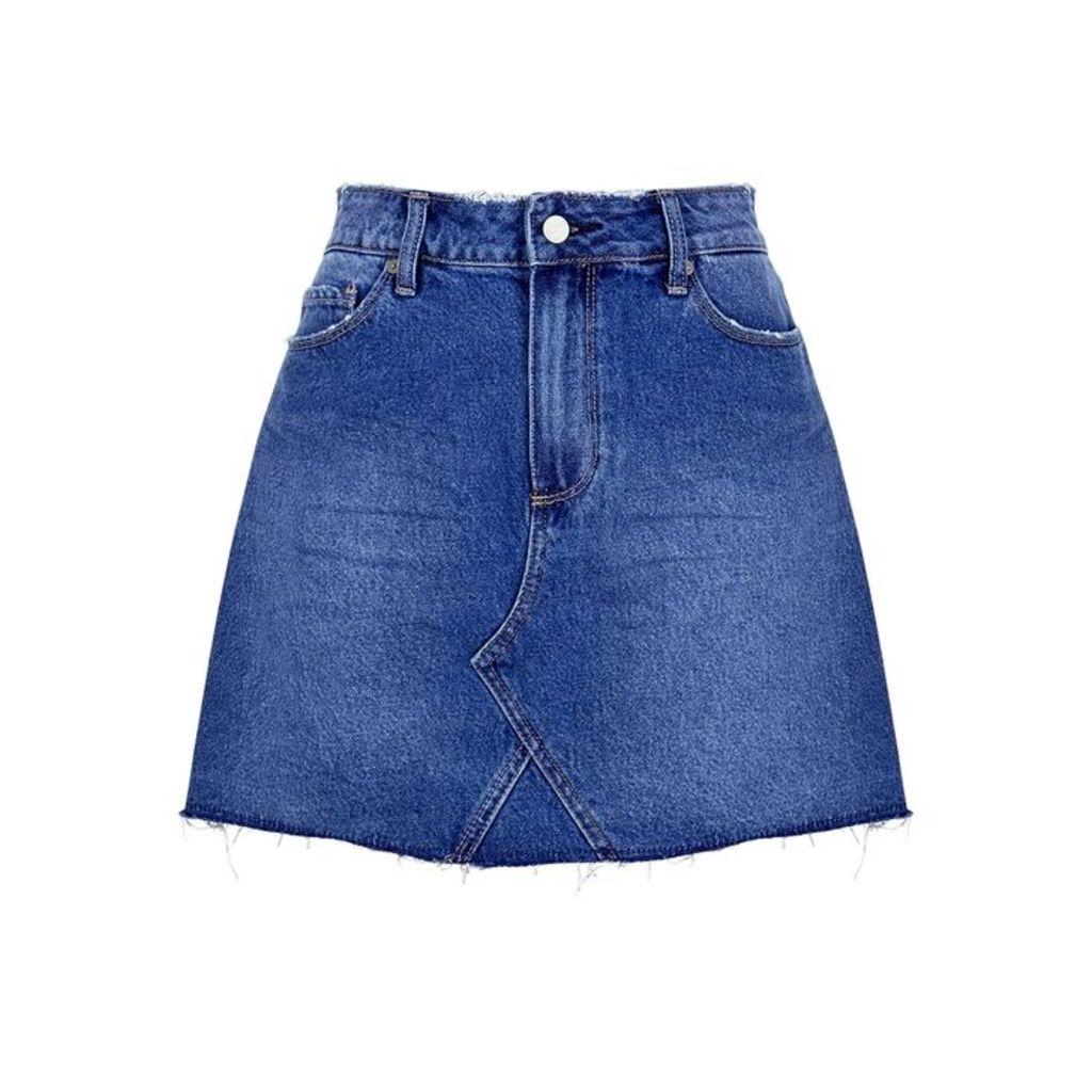 Paige Aideen Blue Denim Skirt