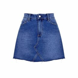 Paige Aideen Blue Denim Skirt