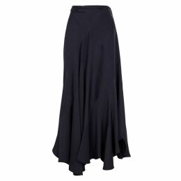 Chloé Navy Panelled Satin Skirt