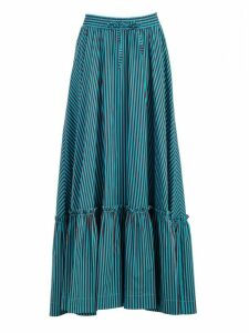 Parosh Stripped Flared Skirt