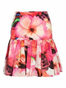 Msgm Msgm Floral Print Pleated Skirt