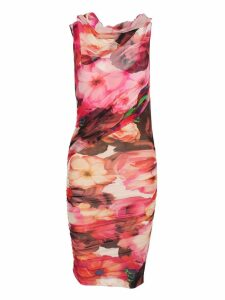 Msgm Msgm Floral Print Ruched Dress
