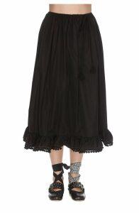 Miu Miu Popeline Pompon Skirt