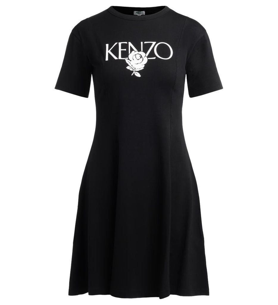 Kenzo Roses Black Dress