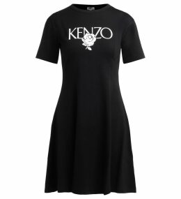 Kenzo Roses Black Dress
