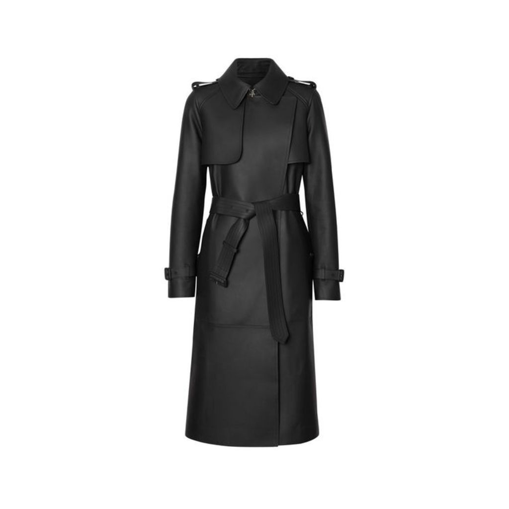 Burberry Lambskin Wrap Trench Coat
