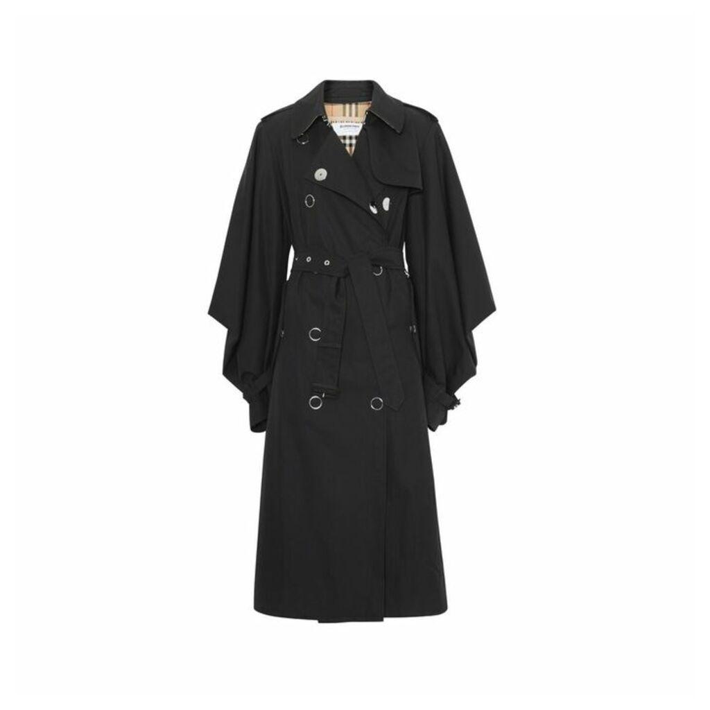 Burberry Cape-style Sleeve Cotton Gabardine Trench Coat