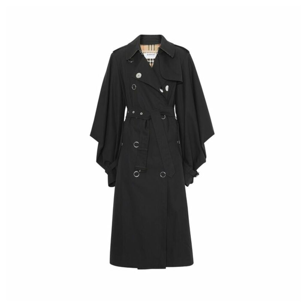 Burberry Cape-style Sleeve Cotton Gabardine Trench Coat