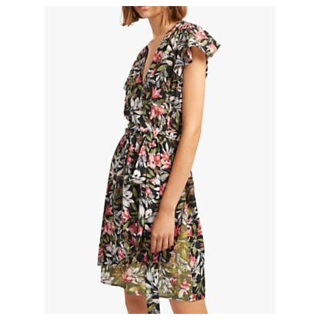 French Connection Floreta Wrap Dress, Black/Multi