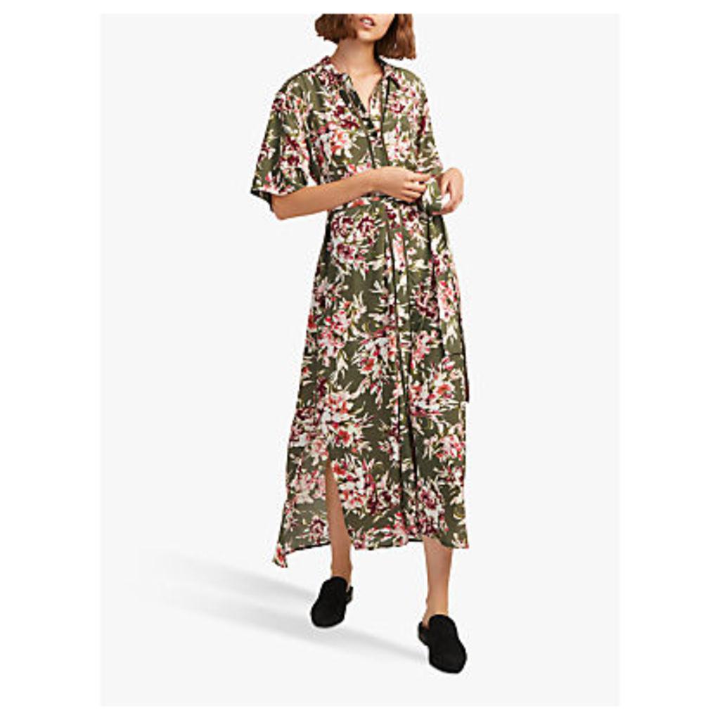 French Connection Floriana Drape Dress, Cactus