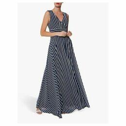 Gina Bacconi Ladora Maxi Dress, Navy/White