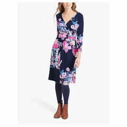 Joules Jude Jersey Wrap Dress, Navy Floral
