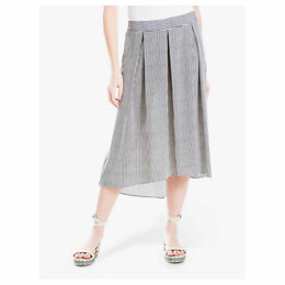 Max Studio Stripe Skirt, Ivory/Black