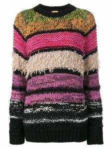 Nº21 striped crew neck jumper - Pink