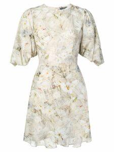 Alexander McQueen floral print mini dress - Neutrals