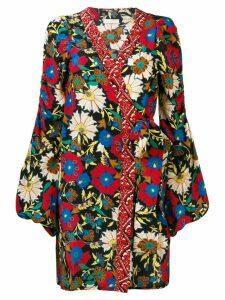 Anjuna floral wrap mini dress - Red