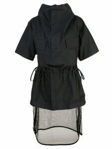 Toga sheer detail dress - Black