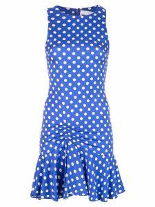 Caroline Constas short poka dot dress - Blue