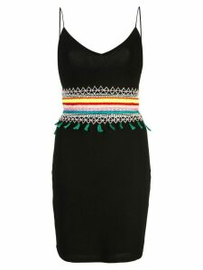 Alice+Olivia Loralee embroidered fitted dress - Black