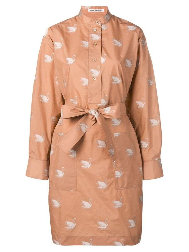 Acne Studios Belted shirt dress - Pink