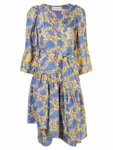 Apiece Apart printed V-neck dress - Yellow