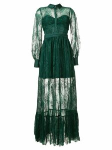 Self-Portrait long lace dress - Green