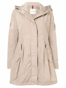 Moncler hooded coat - Neutrals