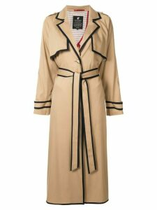 Loveless contrast trim coat - Brown