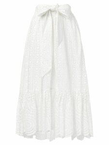 Ulla Johnson broderie anglaise midi skirt - White