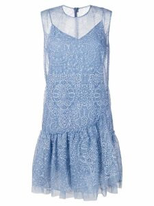 Ermanno Scervino layered lace detail dress - Blue
