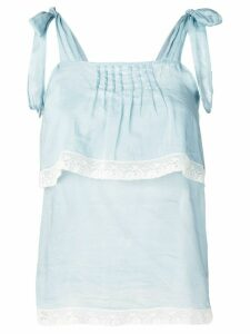 Semicouture tiered summer top - Blue