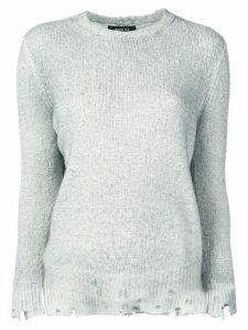 Avant Toi distressed brushed sweater - Grey