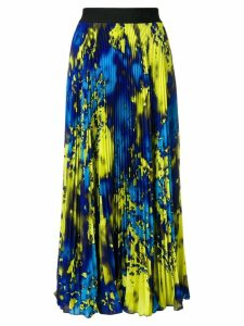 MSGM printed pleated skirt - Blue