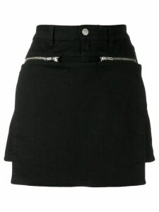 1017 ALYX 9SM zip-detail paneled short skirt - Black