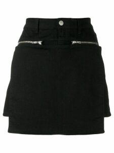 1017 ALYX 9SM zip-detail paneled short skirt - Black