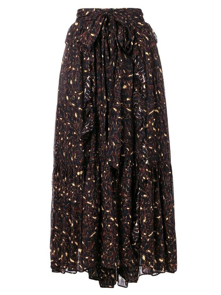 Ulla Johnson printed midi skirt - Black