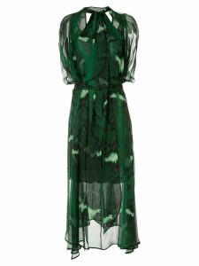 Petar Petrov Delway sheer snake print dress - Green