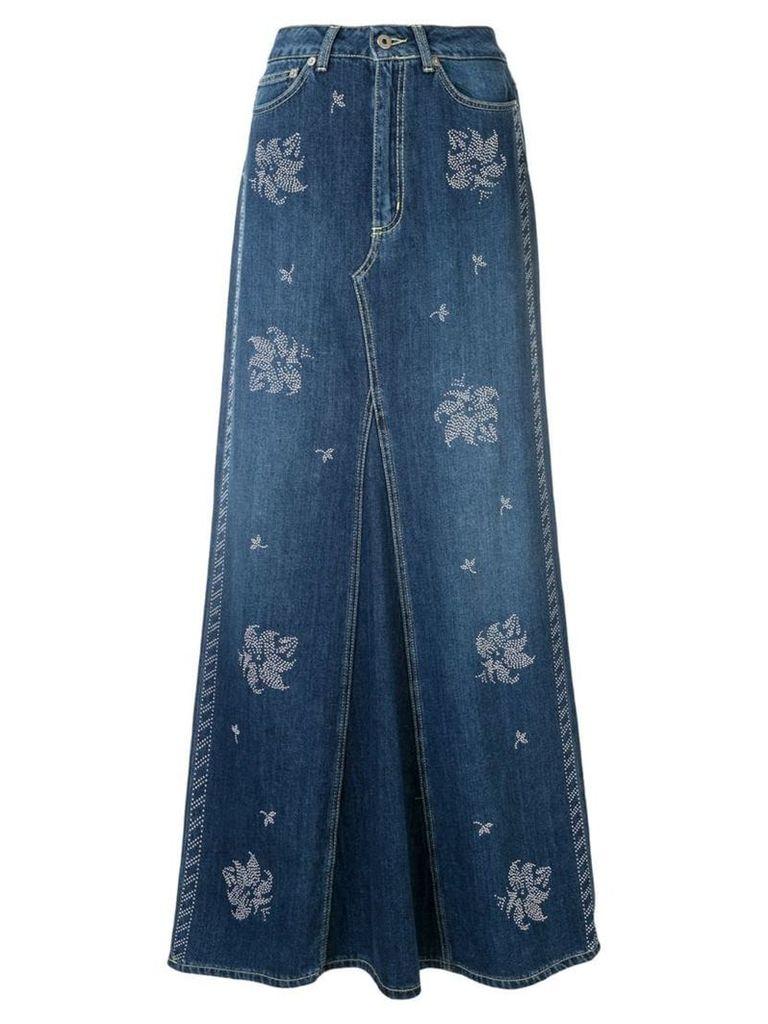 Dondup studded skirt - Blue
