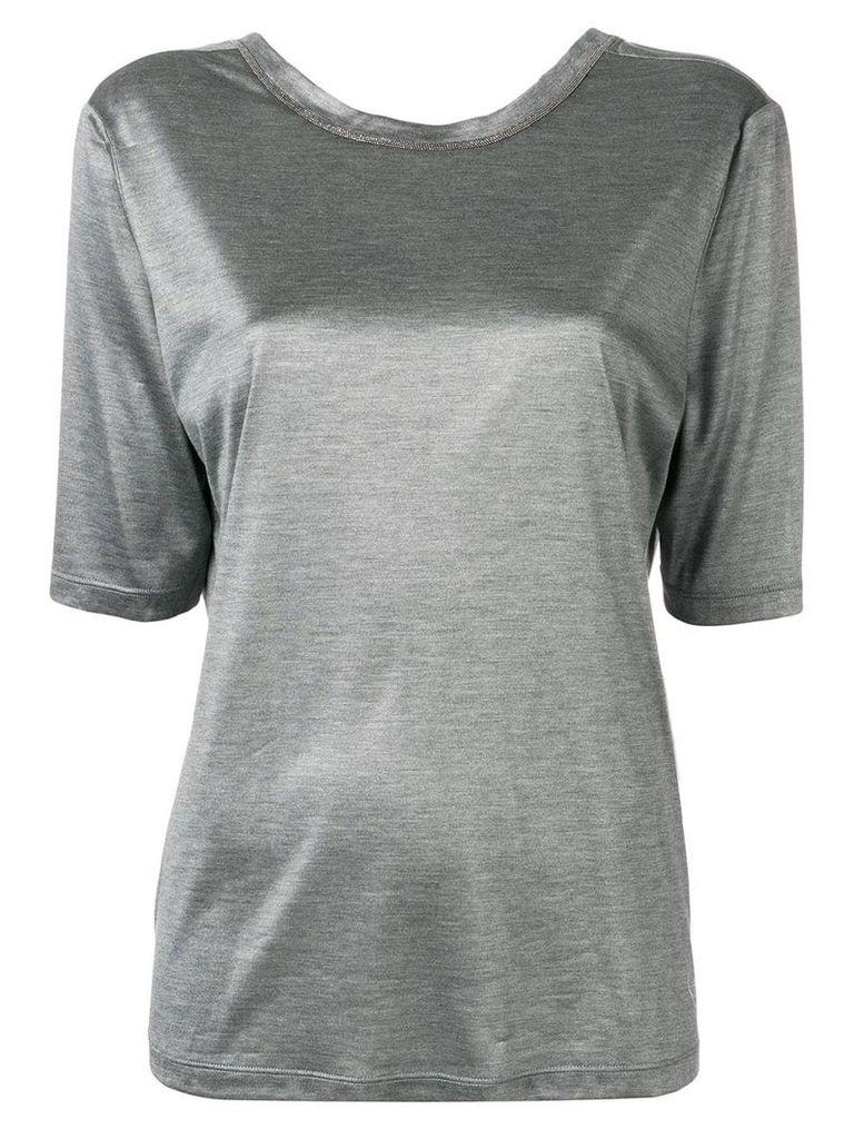 Fabiana Filippi round neck T-shirt - Grey